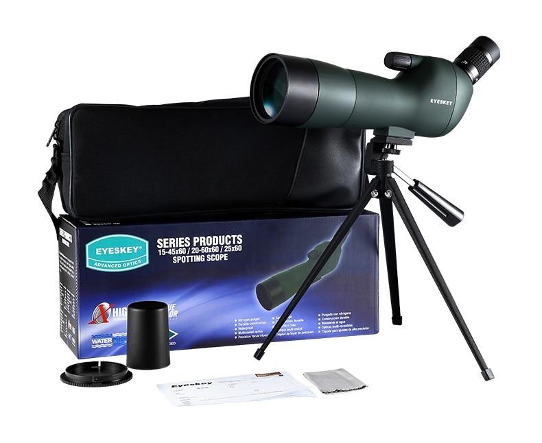 Cannocchiale telescopio Impermeabile Ad Angolo 20 60x60 Zoom Spotting Scopes con treppiede da tavolo camouflage/colore verde fast shipping - 6