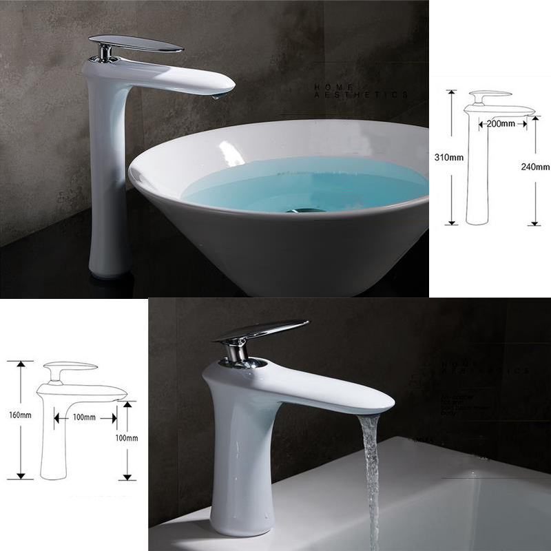 Brand New Promotion White Paint Faucet Single Lever Basin Mixer Vanity Tapware Hot Cold Water Control Bathroom Faucet marsnaska brand new white