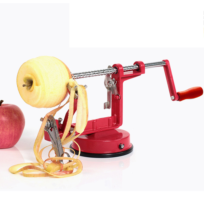 Hot Selling new 3 in 1 function  fruit vegetable tools Apple Slinky Machine Peeler Fruit Cutter Slicer Kitchenware