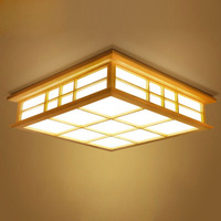 Ceiling lights Japanese style tatami lamp LED wooden ceiling lighting dining room bedroom lamp study room teahouse lamp 0033