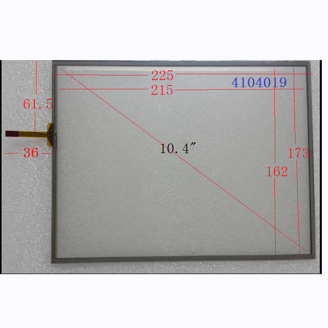 NEW 10.4inch Touch Screen 104019 225*173 4 line resistance screen For TOPTOUCH 104019 FOR Computer