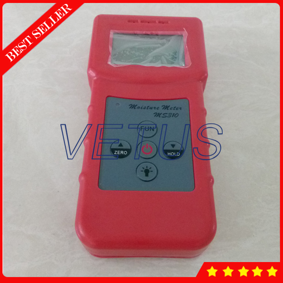 MS310 Inductive Wood Moisture Analyzer Concrete Moisture Meter for Timber Textile Leather Moisture Content Testing Equipment