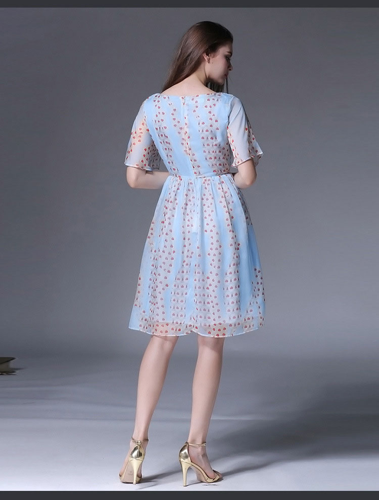 Aliexpress.com : Buy 2017 Light Blue Summer Dress Frill Short ...