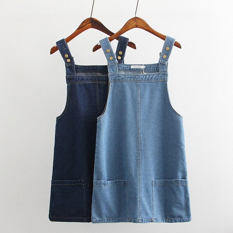 Комбинезон платье джинсовый женский