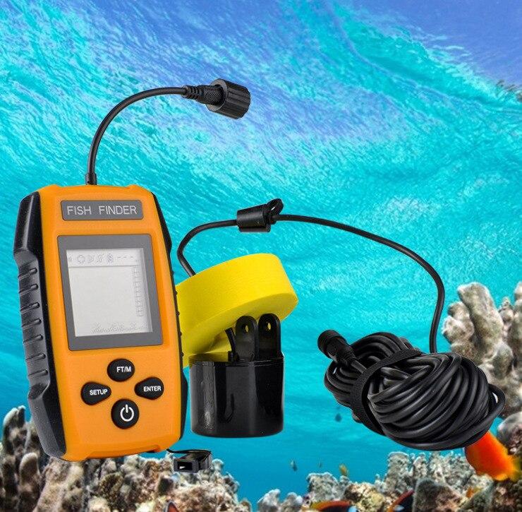 Chanceux détecteur de poisson Sonar profondeur pour pêche écho sondeur sondeur Portable poisson 100 m accessoires de pêche sur glace # B4