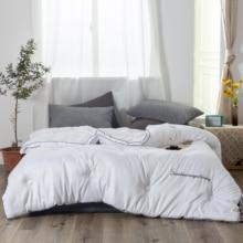 Blancstar Spring Autumn Silk Quilt 100% Comforter Cotton Cover Pink Duvet Filling Mulberry Blanket