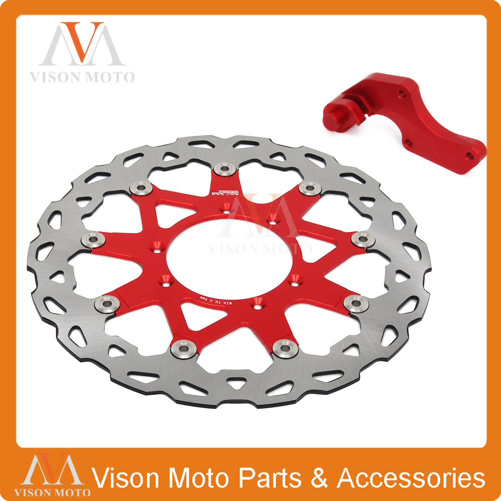 320MM Floating Brake Discs+Bracket For Honda CR CRF CR125 CR250 CRF250R CRF250X CRF450X CRF450R Dirt Bike Motocross Enduro cnc dirt bike offroad motorcycle brake clevis rod joint for honda crf 250r crf250x crf 450 crf450