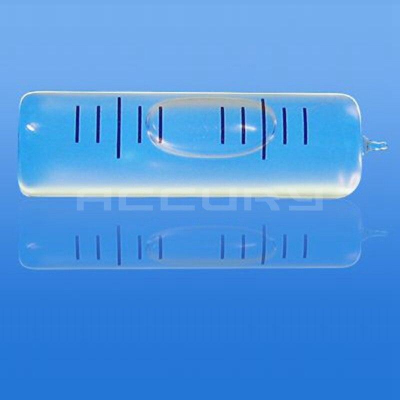 """Hohe Präzision wasserwaage 30 """"/2mm 10*37mm Glas Ebene blase fläschchen Glas skala zubehör für messgerät"""