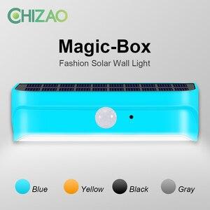 CHIZAO Outdoor wall lamp Solar energy PIR motion sensor IP65 Waterproof Fashion Multi color Energy saving Courtyard solar light