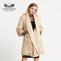 2017 New Luxury Knitted Mink Fur Coat 100 True Mink Coat Women S Mink Fur Coat
