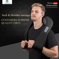 JinKaiRui Wireless Electric Shiatsu Back Neck Shoulder Body Jade Massage Infrared Heating Kneading Massager Pillow Pain Relief