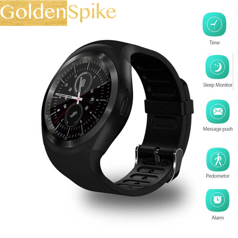 2019 New Y1 Round Smart Watch Support Nano SIM Card and TF Card Smartwatch  girl men Life Waterproof Smart Watch 1 22 inch