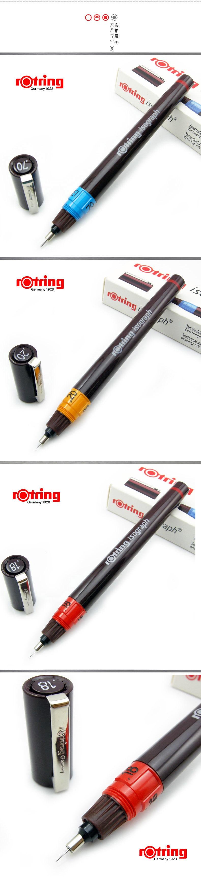 Caneta original 0.1mm-1.0mm da agulha de rotring para a escolha