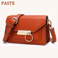 PASTE Brand Women Messenger Bags Genuine Leather Bag Female Shoulder Crossbody Bags For Women Purse 2019 New Ladies Small Bags
