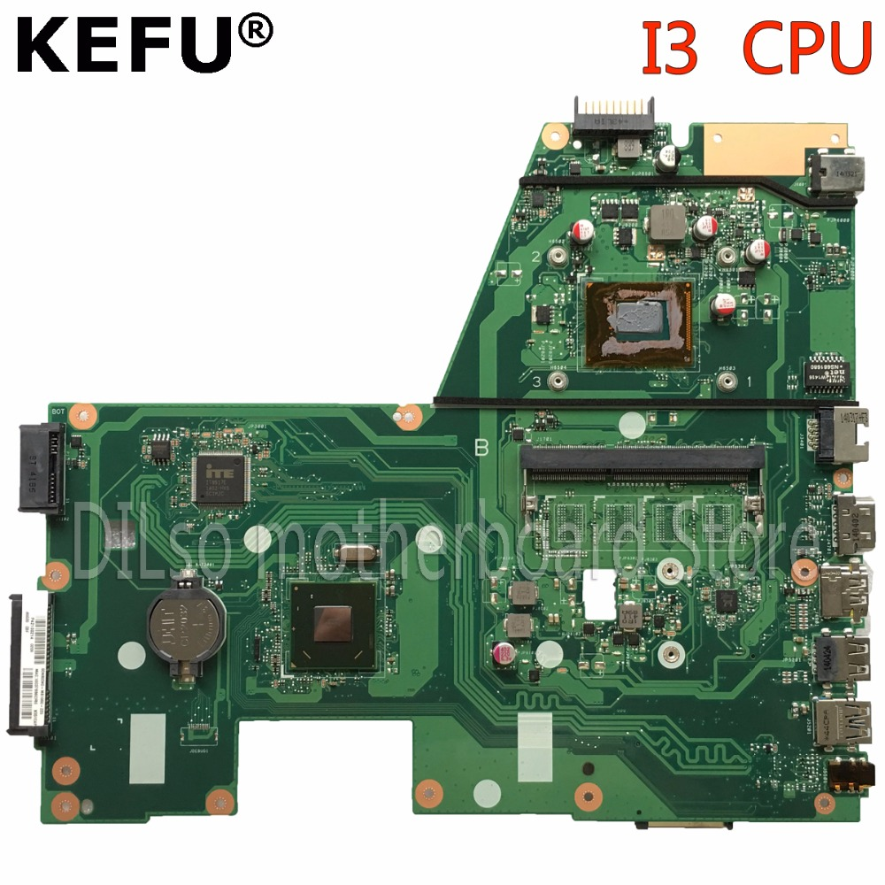 KEFU X551CA motherboard for ASUS X551CA Laptop motherboard X551CA mainboard REV2.2 I3 CPU 100% tested freeshipping k54hr x54h k54ly laptop motherboard for asus for i3 cpu full tested ok 6 months warranty
