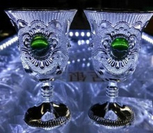 WBY 809+++++6pcs Kiddish White Goblet jade TIBET SILVER WINE CUP Cheap price Noble Vintage Garden Decoration 100% Tibetan