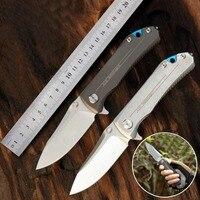 senior The sharp 9Cr18MoV steel hunting survival tactics folding knife hardness 62 HRC EDC tool High end gift knife