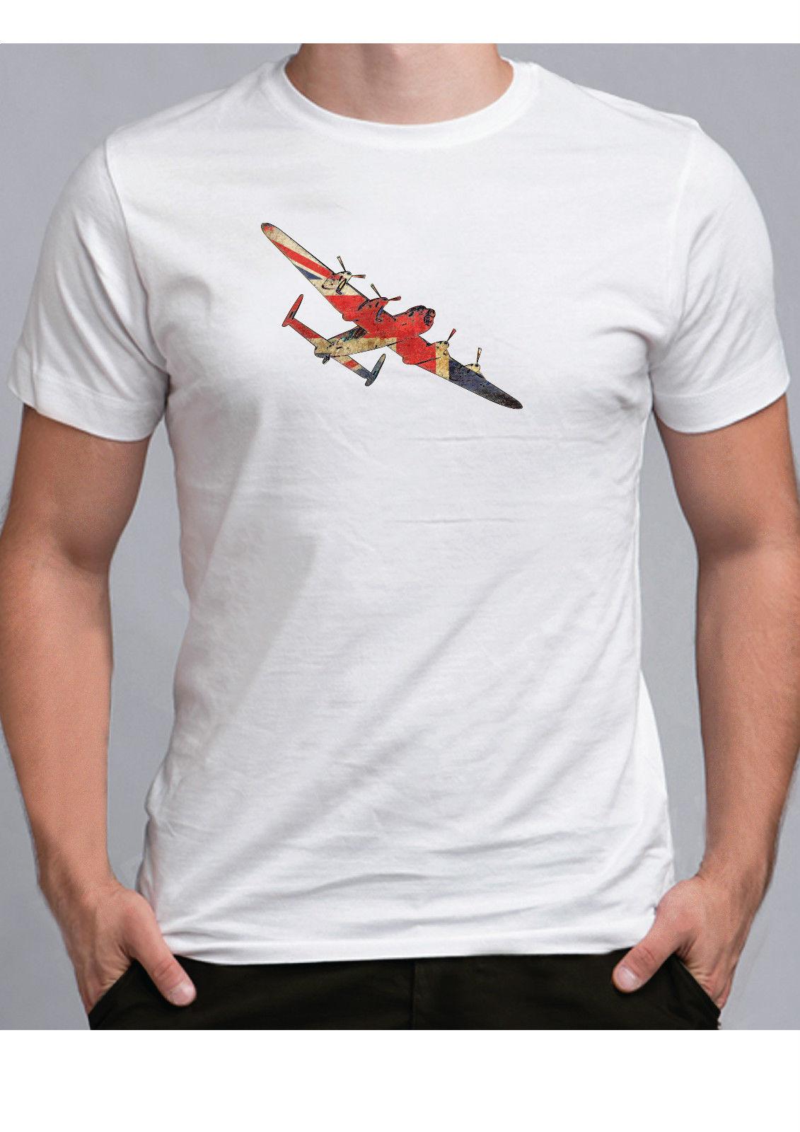 Британский Ланкастерский бомбардировщик футболка в английском стиле WW2 авиации футболка RAF войны