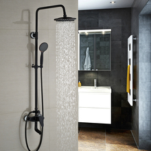 Luxury Bathroom in wall Shower Faucet Single Handle 8 Rainfall Shower Tub Mixer Taps Oil rubbed