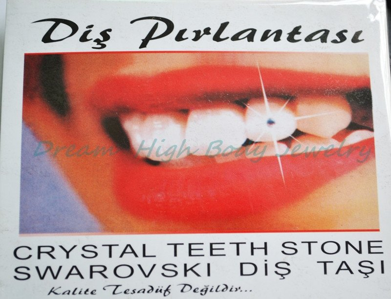New Arrival Temporary Tooth Jewels Finest Austrian Crystals Gem Stone Teeth Crystals Fashion Jewelry For Girl 6 Box Sparkles