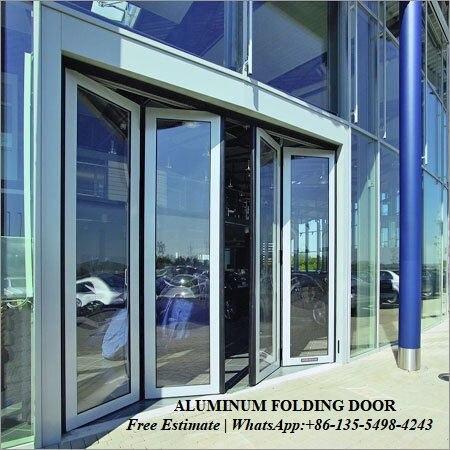 Portes pliantes internes de jardin de porte en Aluminium, profil en Aluminium standard australien insonorisé utilisé portes pliantes extérieures à vendre