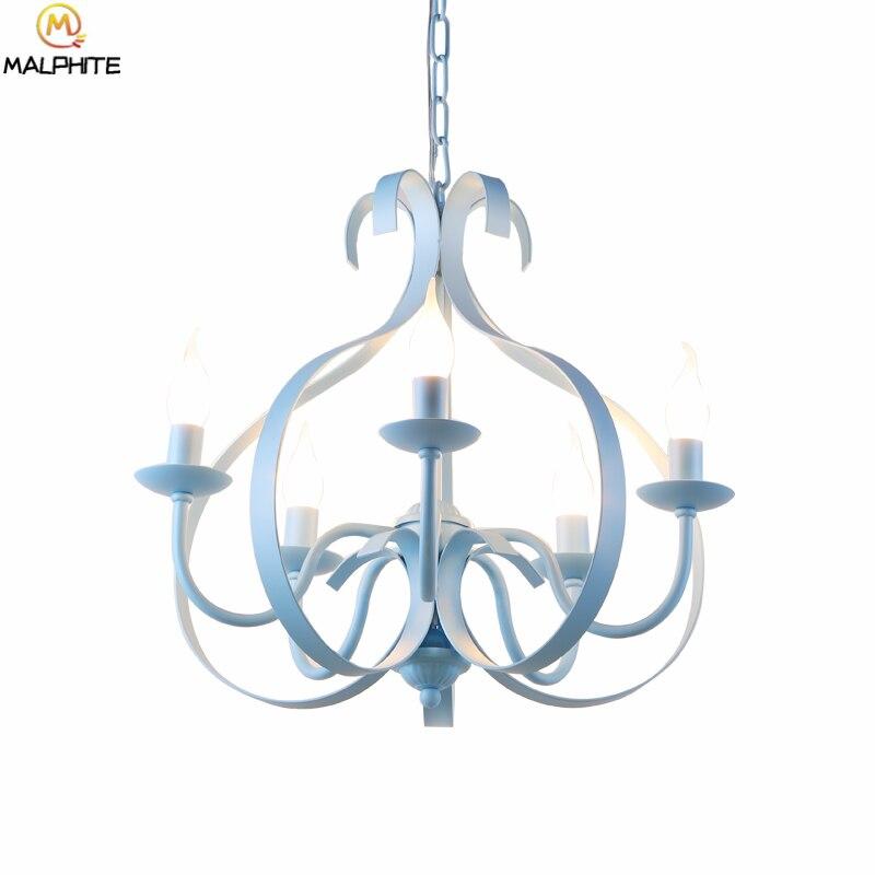 Lustre moderne lustre éclairage mode Loft menorah lustre rose fer luminaire chambre décor à la maison café éclairage lampe à LED