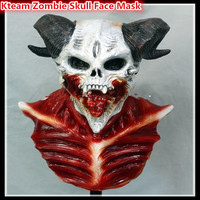 2017 Top Grade 100% Latex Popular Wholesale Bloody Latex Devil Halloween Mask Scary Zombie Cannibal Mask Toys Free size in stock