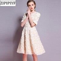 Zipipiyf цветочный Вышивка Для женщин летнее платье 2018 спинки Платье с круглым вырезом Повседневное пикантные пляжные черные короткие Платье Д