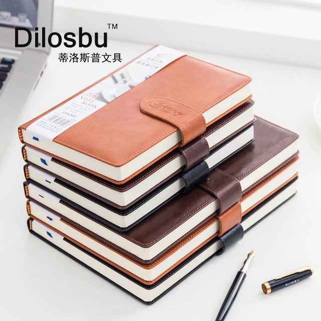Dilosbu Business Leather Notebook A5 Black Waterproof Cover B5 Planner Binder Note Book Paper Daily Planner 2018 Graduation Gift