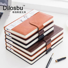 Dilosbu Business Leather Notebook A5 Black waterproof cover B5 Planner Binder Note Book Paper Daily Planner 2018 Graduation Gift dislobu a5 business notebook leather cover holiday gift imitation daily menos office schedule book business planner office gift