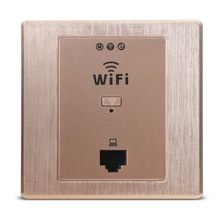 86 Type  Wireless Panel AP Socket 220V Into The Wall Ap Router Hotel Wifi Cover Brushed Gold
