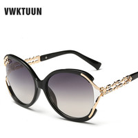 Fashion Luxury Vintage Big Sunglasses Women Crystal Direction Frame Sun Glasses Retro Classic Eyewear Oculos De