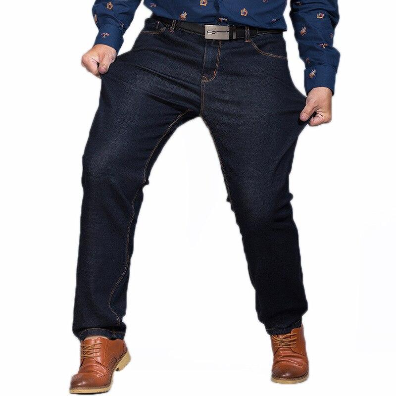 Big Size 44 46 48 Baggy Work Jeans Stretch Homme Fashion Casual Black Blue Men Jeans Masculina Cowboy Biker Mens Pants