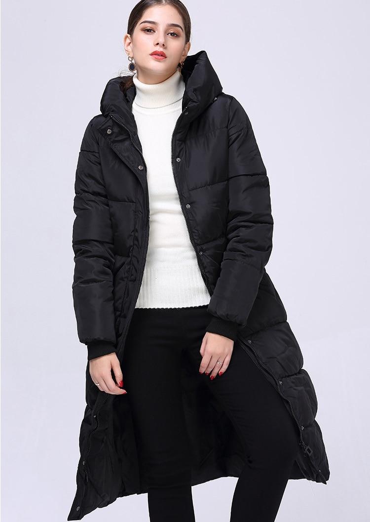 Plus Capuchon Bleu Noir Femmes Blue Grande Épais D'hiver Parka Taille Manteaux Blanc Navy À 2018 Longue Vestes Rouge Hot New wxO0ZtF