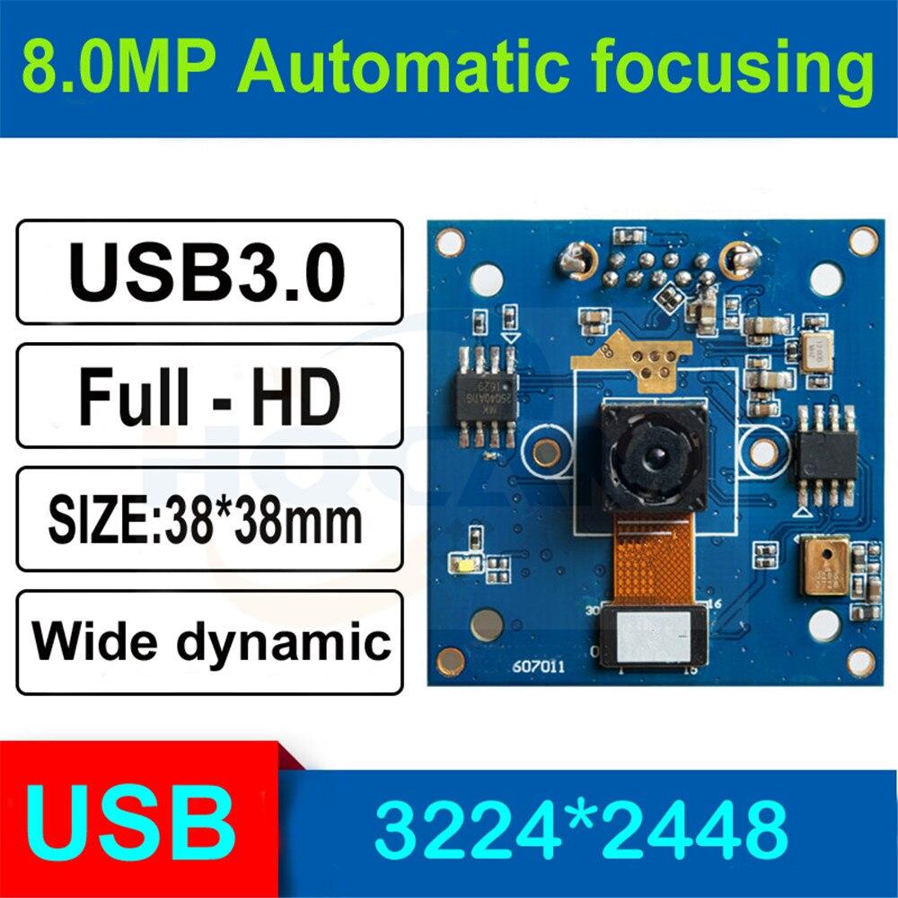HQCAM 8.0 mégapixels 1/3. 2 pouces faible illumination 0.01Lux CMOS Module carte 8MP 90 degrés Autofocus Usb caméra biométrie macro cam