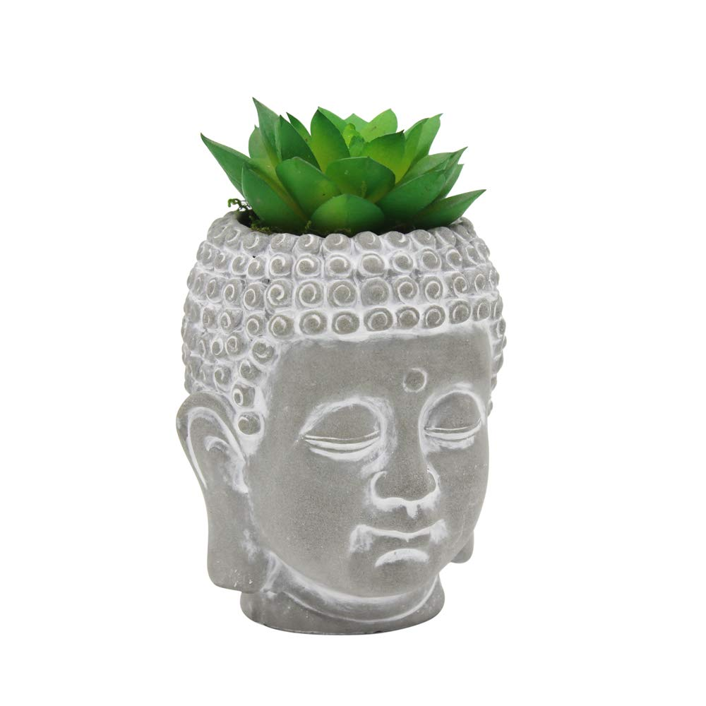 Cement Buddha Head Succulents Tiny Flower Plant Containers Decor
