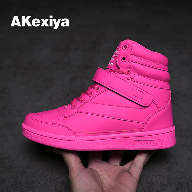 41911577632633 placeholder Akexiya New spring autumn ankle boots heels pink shoes women  casual shoes height increased high top