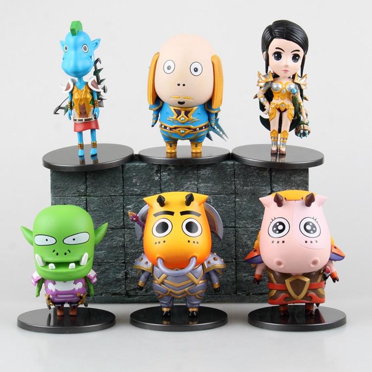 все цены на Anime Cartoon I'm MT PVC Action Figure Collectible Model Toy Doll 6pcs/set  KT1806 онлайн