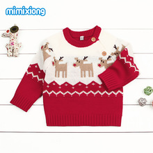 Newborn Winter Sweater Pullover New Year Sweaters For Baby Boys Girls Causal Long Sleeve Toddler Kids Jumpers Autumn Children's