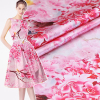 Digital inkjet silk fabric soft dress silk stretch satin fabric spandex fabric silk stretch fabric Chinese silk cloth