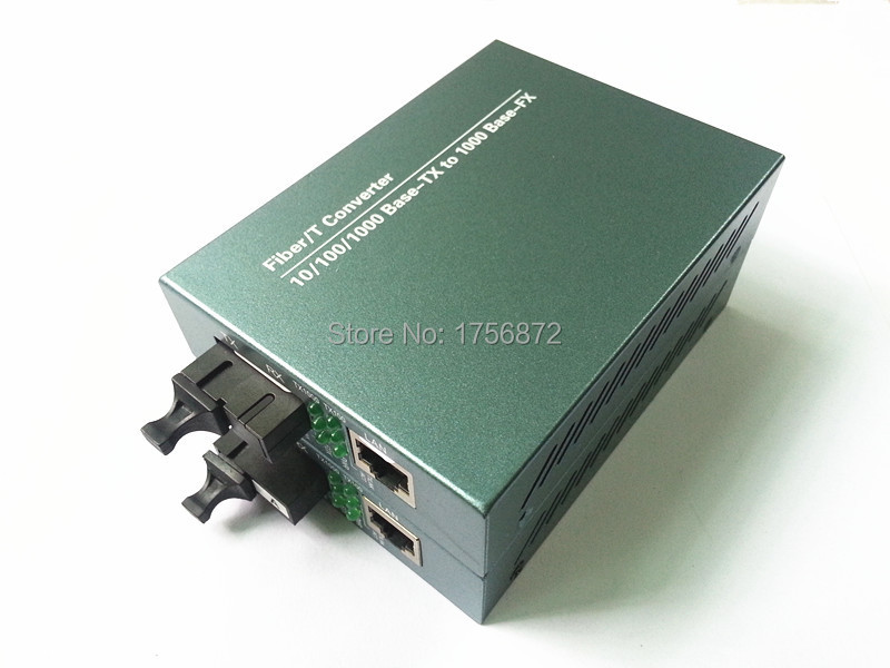 Gigabit Single-mode single-fiber fiber media converter optical transceiver RJ-45 1000M Ethernet Telecom Grade 1 pair 1 Channel