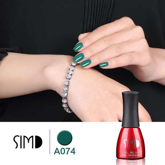 SIMD 74 color Bling Gel Nail Polish Pure Soak Off UV LED Starry Gel Polish UV LED Glitter Sequins Nail Gel for Nail Art