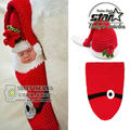 Christmas Knitted Suit Crochet Birthday Costume Hats & Caps/Pants Set Newborn Baby Photo Props Toddler Santa Photography Props