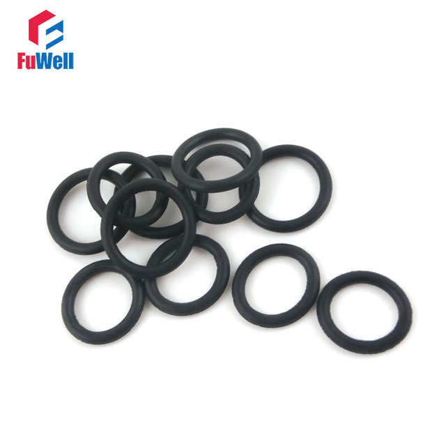 500pcs Black Nitrile Rubber 1.5mm Thickness O Ring Seals 11/12/13/14 ...