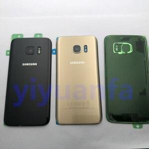 Image 2 - Original Zurück Glas Für Samsung Galaxy S7 G930 G930F S7 Rand G935 Batterie Zurück Abdeckung Tür Gehäuse Ersatz Reparatur Teile