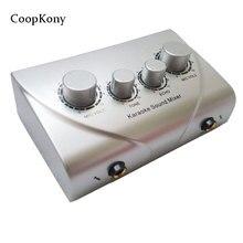 Coopkony Karaoké Mixer Du Son Musical Alimenté Audio Mixer Console PC TV microphone système numérique mixer du son
