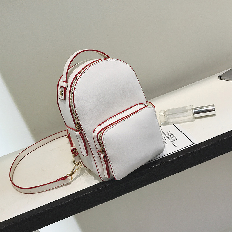 RU BR New European and American Fashion Hit Color Shoulder Bag Mini Small Female Backpack Casual