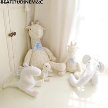 Cute Plush Giraffe Elephant Dinosaur Toys, Pillow Doll, Home Car Bedroom Bay Window Decoration, Photo Props, Childrens Gi