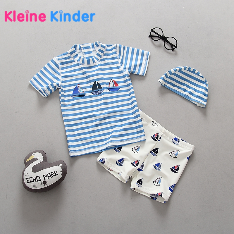 criancas maio para meninos triped bebe menino roupa de banho protecao solar duas pecas crianca roupas
