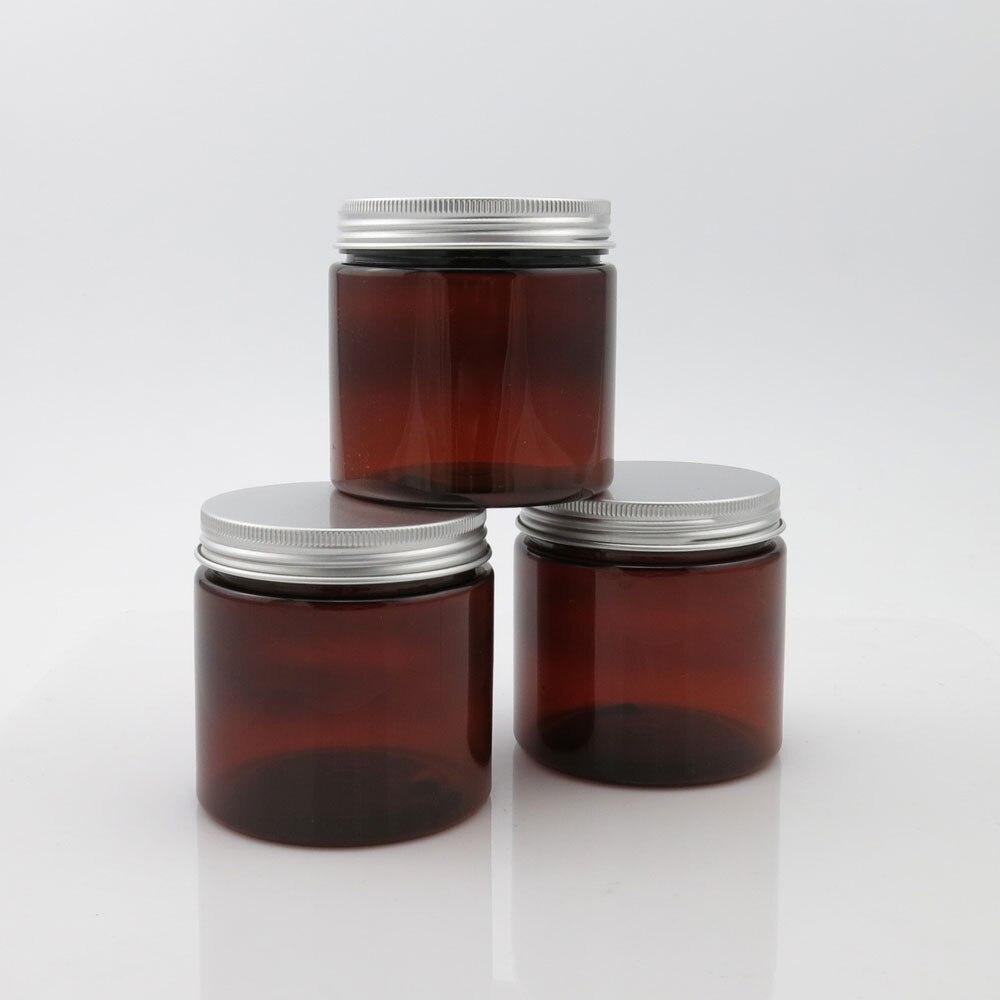 30 X 200ml Bigger Pet Jars 200ml Brown Plastic Body